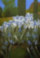Iris, Blumen, Garten, Ölbild, gemälde, Ioana Luca, düsseldorf, künstlerin