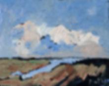 Detlev Foth, Horizonte, Langes Moor, Landschaften, Öl, Leinwand, Kleinformatige Bilder, Ölmalerei, Künstler in Düsseldorf