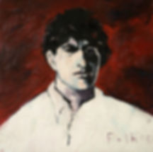 Detlev Foth, Porträtmaler Düsseldorf, Malerporträts, Künstlerporträts, Amedeo Modigliani Portrait, Öl auf Leinwand, Porträtauftrag Düsseldorf, Ölbild, Gemälde