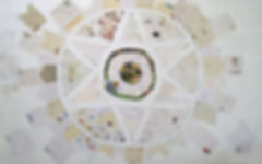 Großformatige Collage auf Leinwand, Ioana Luca