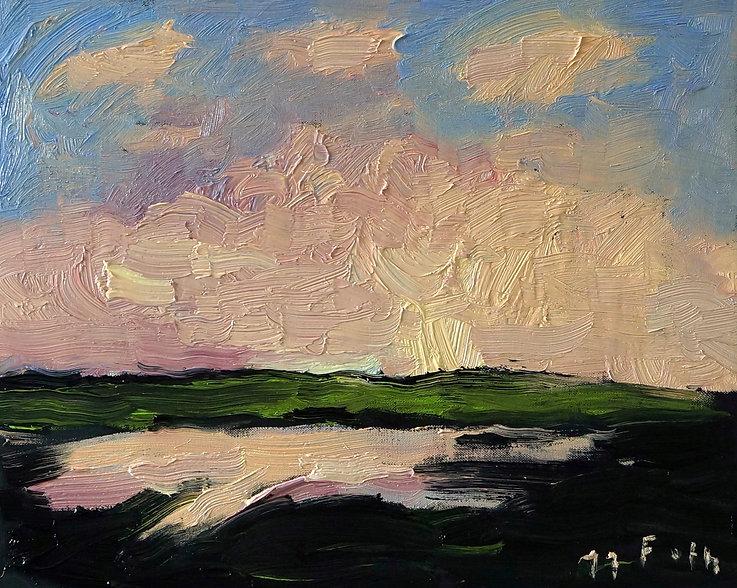 Detlev Foth, Horizonte, Hügel, Feld, Aroneanu, Landschaften, Öl, Leinwand, Kleinformatige Bilder, Ölmalerei, Künstler in Düsseldorf