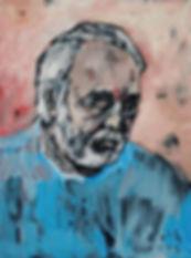 Detlev Foth, Selbstporträt, Selbstbildnis, Mann, Ölgemälde, Ölbild, Künstler in Düsseldorf