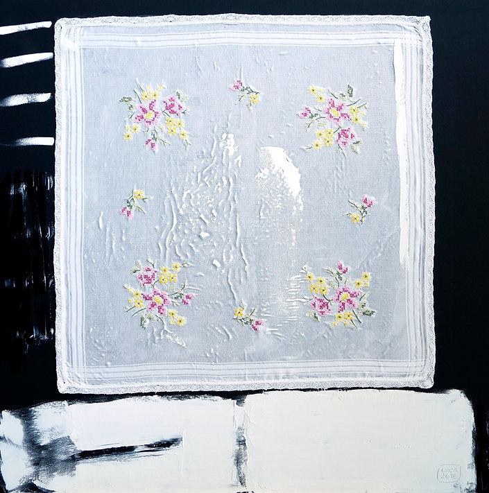 Ioana Luca, Textil, Öl, Leinwand, Textilcollage, Kunst, Düsseldorf