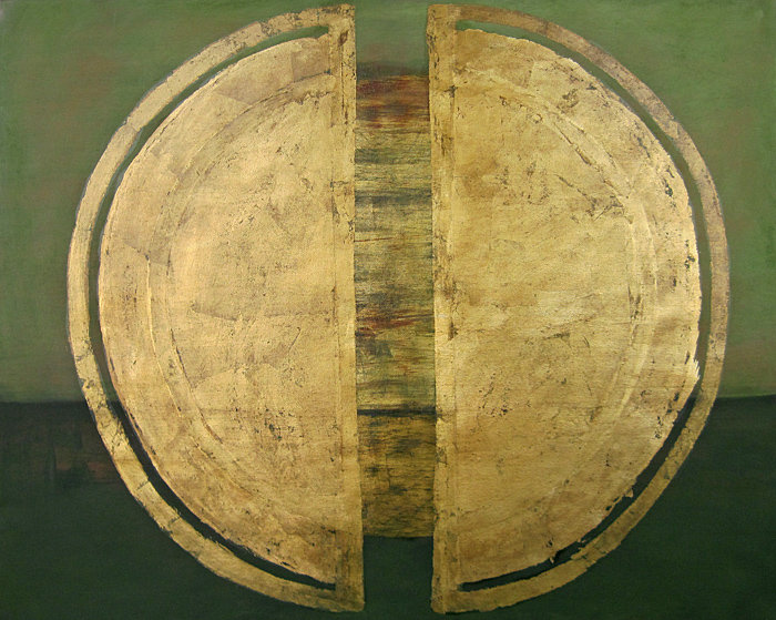 Ölbild, Gold, Ioana Luca