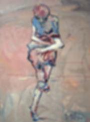 Detlev Foth, Figurenbild, Ölbild, Kunst, Düsseldorf, Frau, tanzend, Ida, Tänzerin