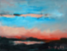 Hemmoor, Kreidesee, Horizonte, Landschaften, Seelandschaft,Detlev Foth, Malerei, Gemälde, Künstler in Düsseldorf