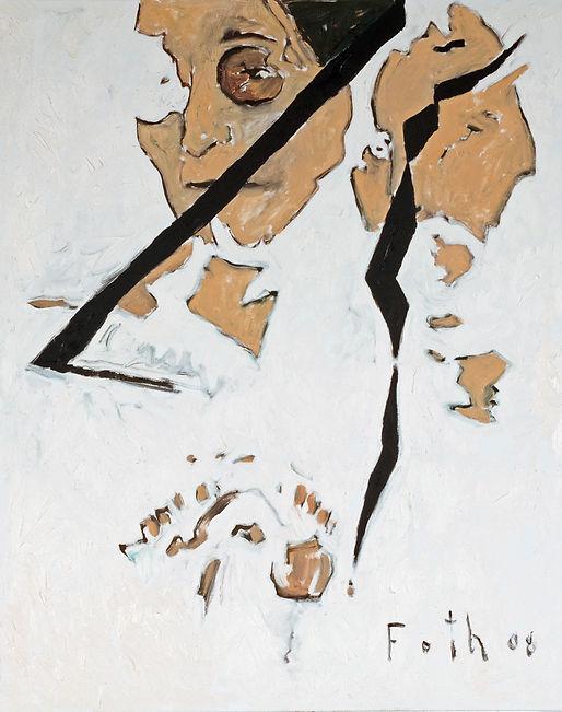 John Lennon Portrait, Detlev Foth, Porträtmaler in Düsseldorf, Musikerporträts, Ölbild, Gemälde