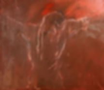 Detlev Foth, Figurenbild, Ölbild, Malerei, Kunst, Düsseldorf, Jesus am Kreuz