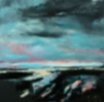 Detlev Foth, Landschaften, Horizontebild, Gemälde, Ölmalerei, Malerei, Öl auf Leinwand, Großformatige Bilder, Künstler in Düsseldorf