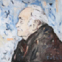 Portätmalerei, Ölbild, Heinrich Foth, Porträt, Detlev Foth, Maler, Düsseldorf