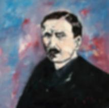 Stefan Zweig Porträt, Gemälde, Detlev Foth, Porträtmaler Düsseldorf, Schriftstellerporträts, Porträtauftrag Düsseldorf, Ölbild, Gemälde