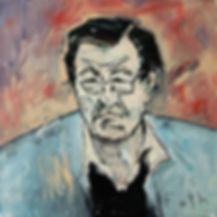 Detlev Foth, Porträtmaler Düsseldorf, Schriftstellerporträts, Günter Grass Porträt, Öl auf Leinwand, Porträtauftrag Düsseldorf, Ölbild, Gemälde