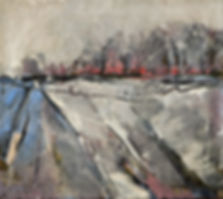 Detlev Foth, Winterlandschaft, Landschaften, Schnee, Eis, Schneelandschaft, Bäume, Felder, Öl auf Leinwand