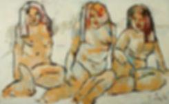 Detlev Foth, Aktmalerei, Akt, Frauen, Großformat, Ölbild, Kunst, Düsseldorf