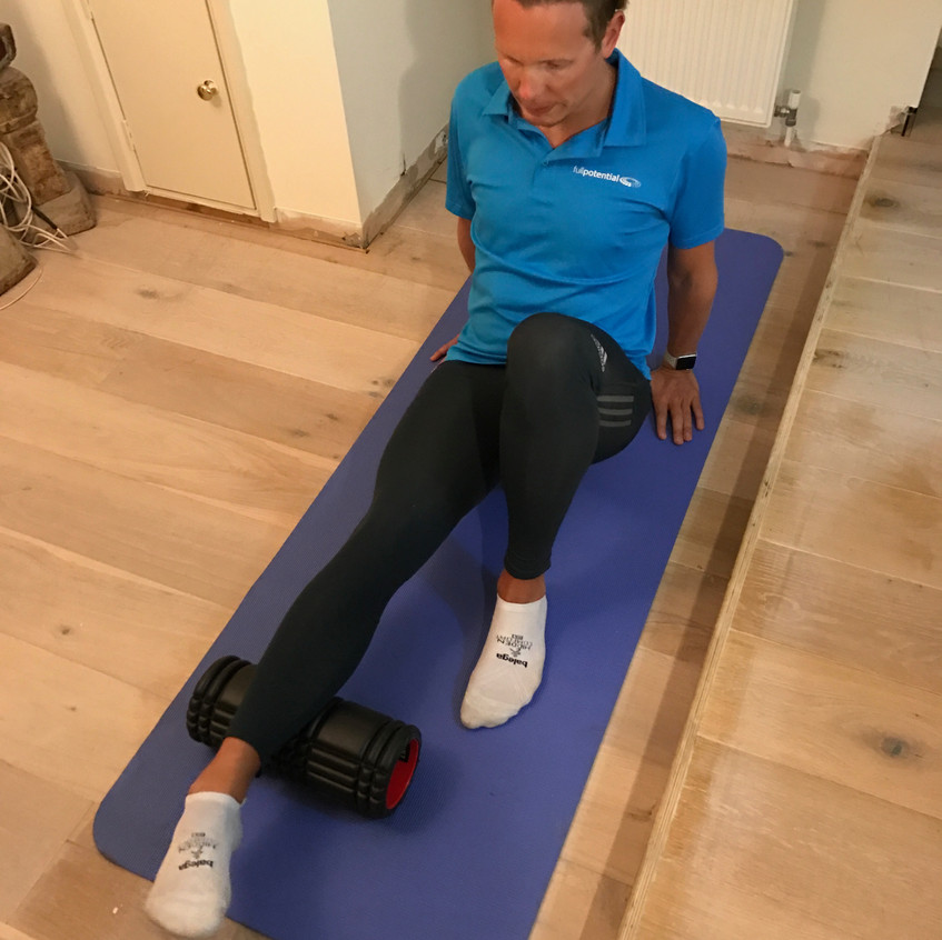 Don't forget you can change the way the foot is pointing, roll pointing the foot in and outwards.