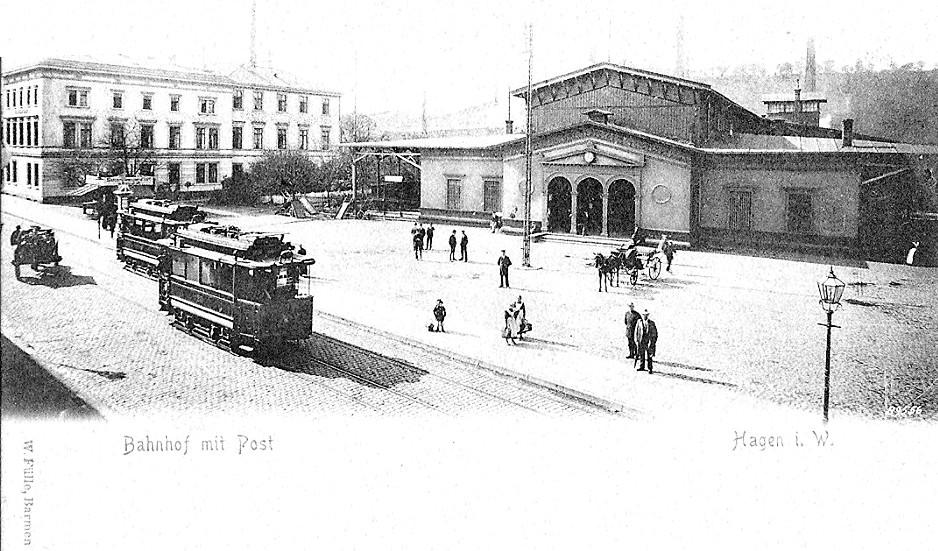 Der zweite Hagener Bahnhof um 1903