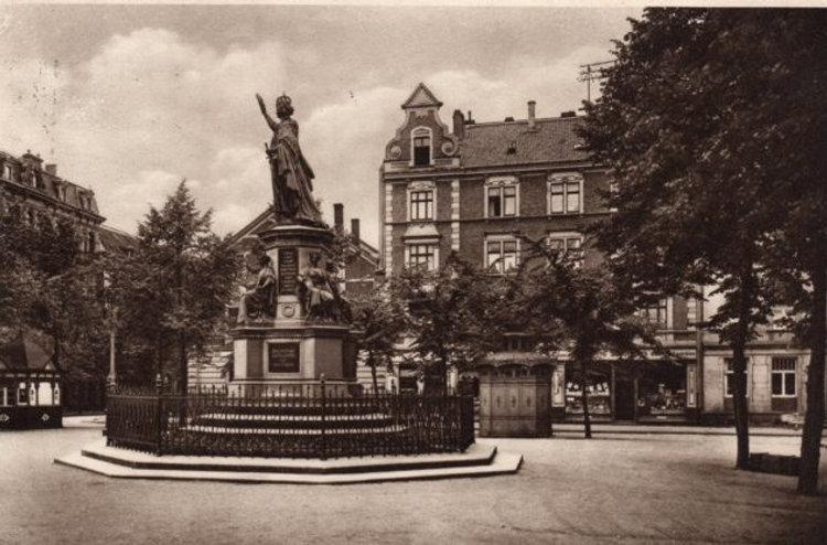 Das ehemalige Kriegerdenkmal auf dem Neu