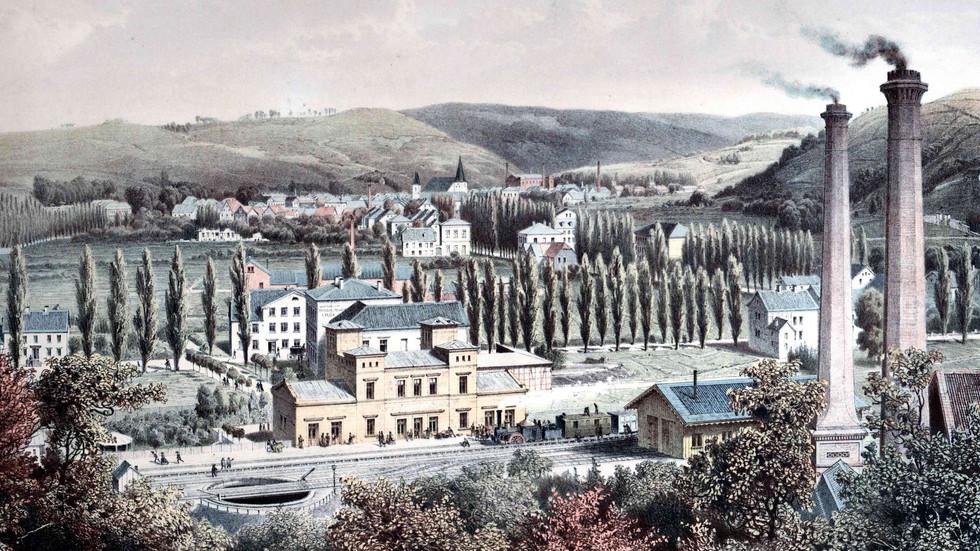Der erste Hagener Bahnhof um 1855