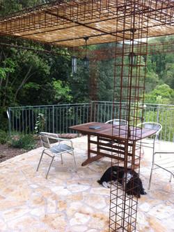 terras vanuit het huis
