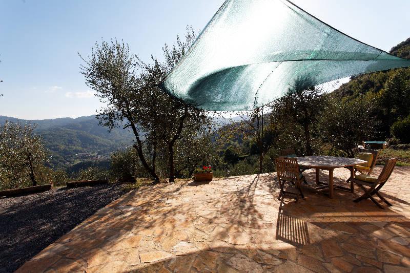 Summer breeze on terrace
