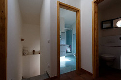 upstairs hallway and main bathroom