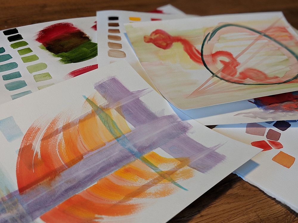 These are a few of my practice watercolor paintings.
