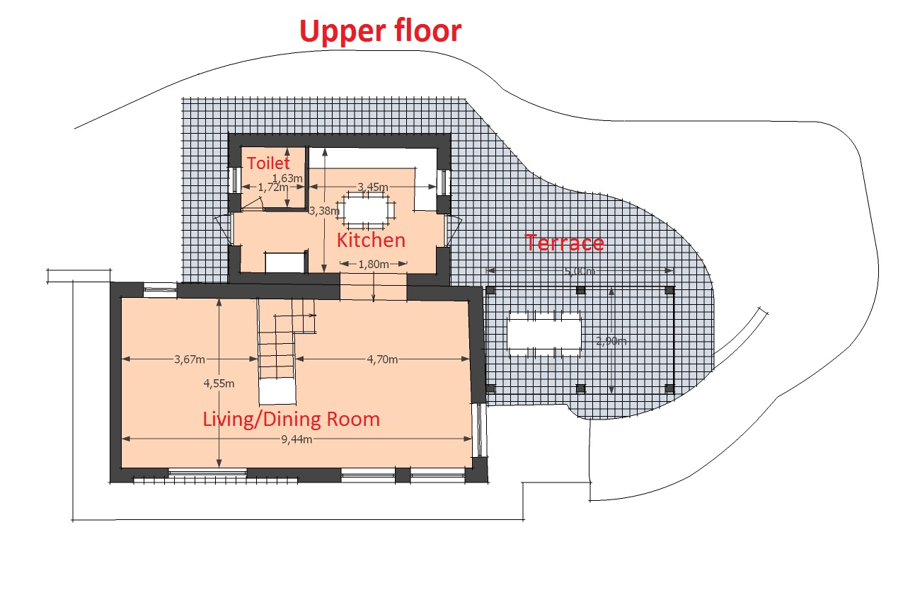 Map Fienile upper floor