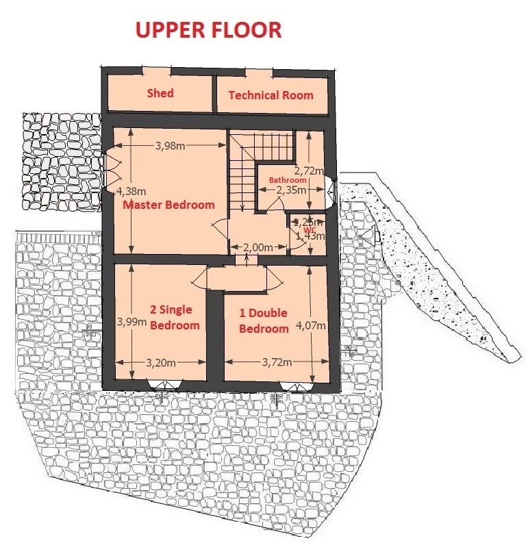 Map of upper floor