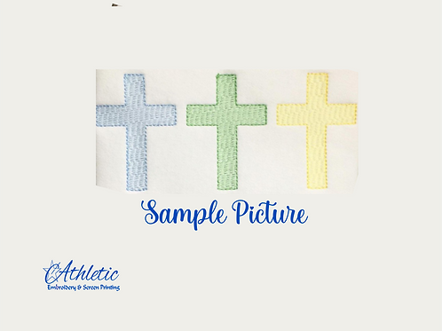 Easter Cross Trio Embroidery Design