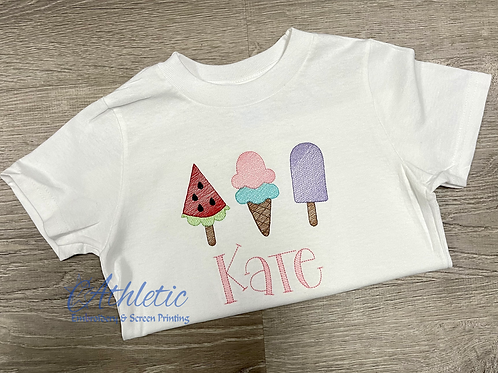 Popsicles Embroidery