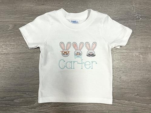 Mister Bunny Trio Embroidery Design