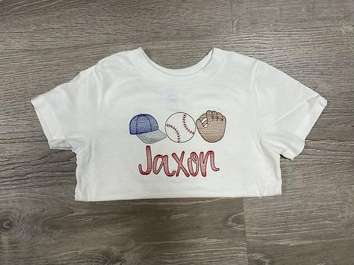 Baseball Trio Embroidery Design