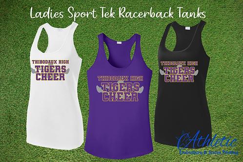 Cheerleader Design Ladies Racerback Tank