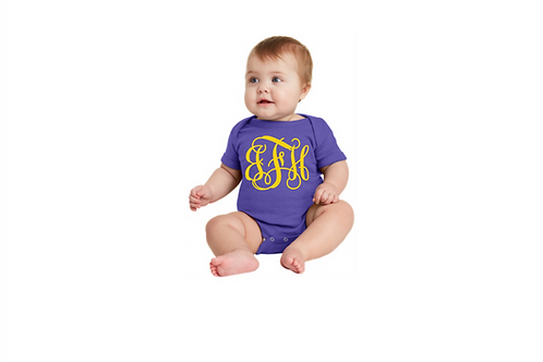 Infant Onesie Monogram Tee