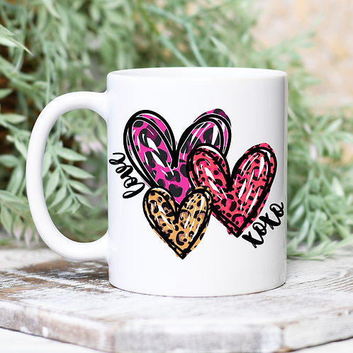 Cheetah Hearts Mug
