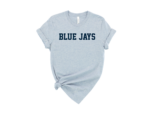 Blue Jays Bella Canvas Heather Prism Blue Tee