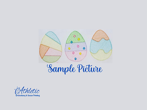 Easter Egg Trio Embroidery Design