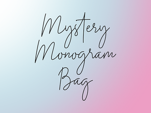 SHORT SLEEVE Mystery Monogram Bag