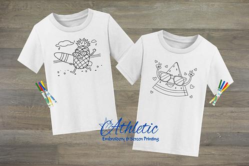 Summer Coloring Shirts