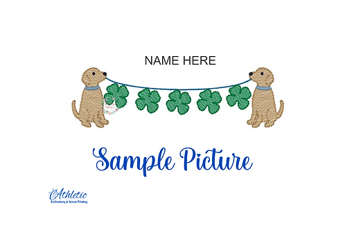 St Patty's Day Dog Embroidery Design