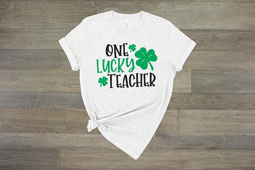 One Lucky Teacher Tee
