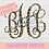 Thumbnail: Leopard Vine Monogram Sublimation Transfer