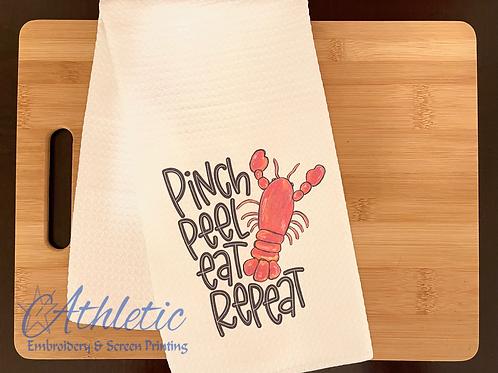 Pinch Peel Eat Repeat Kitchen Towel