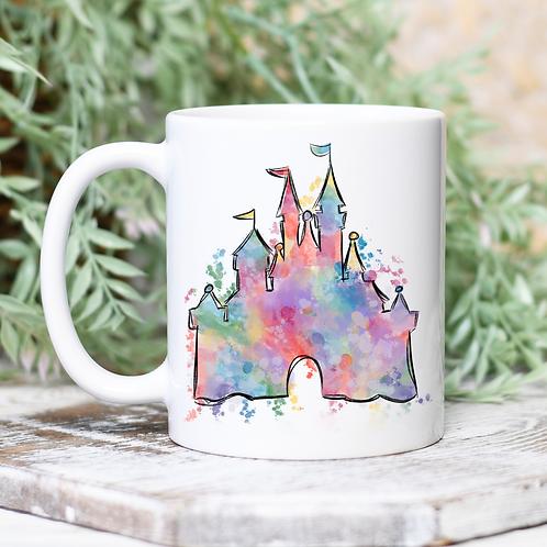 Watercolor Castle Mug