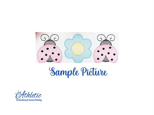 Ladybug Trio Embroidery Design
