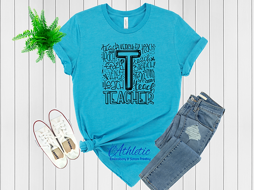 Teacher Typography Tee