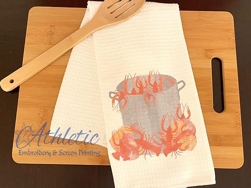 Crawfish Boil Kitchen Towel