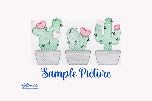 Cacti Trio Embroidery