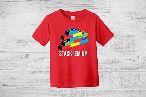 Stack 'em Up Lego Tee
