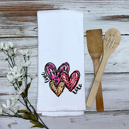 Valentine Hearts Kitchen Towel